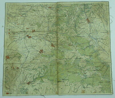 ANTIQUE BULGARIAN PRE 1900'S MILITARY CLOTH MAP YARLOVO BULGARIA XII.5 SEE!