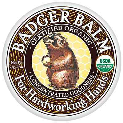 Badger Balm FOR HARDWORKING HANDS Certified Organic Concentrated Goodness 21g
