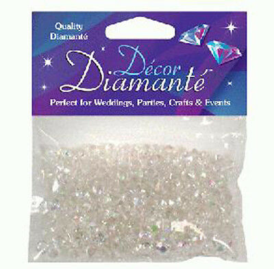 6mm Iridescent Diamante Crystal Table Confetti, Wedding Celebration Decoration