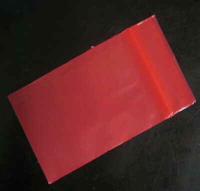 "100 RED COLOR 4"" x 6"" COLORED Poly Plastic Ziplock resealable Jewelry BAGS 2MIL"