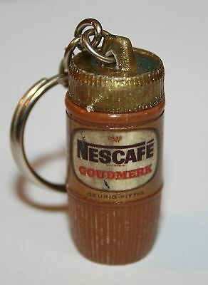 "NESCAFE ""Goudmerk"" Coffee Dutch Plastic Key Chain Vintage Keychain"
