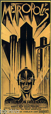 Painting Deco vintage print art poster METROPOLIS movie for glass frame 36""