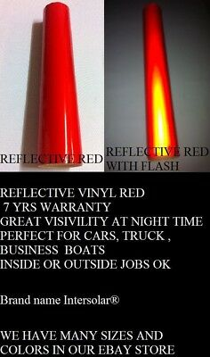"24"" x 50 ft  RED  Reflective Vinyl Adhesive Cutter Sign Hight Reflectivity"