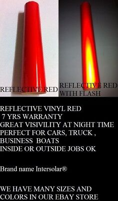 "12"" x 10 ft  RED  Reflective Vinyl Adhesive Cutter Sign Hight Reflectivity"