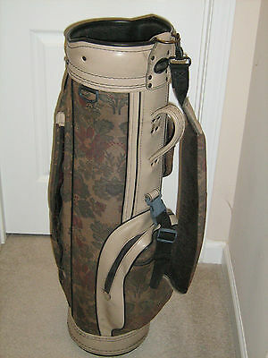 Tapestry Floral Design Womens cart golf bag, Made in USA Used, 3 Dividers Pretty