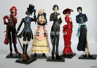 Black Butler Kuroshitsuji Sebastian Ciel Japan Anime Figures 6pc Set US