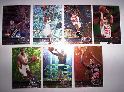 Superbe Lot 7 Cartes Basket Nba Metal Universe Skybox 1997