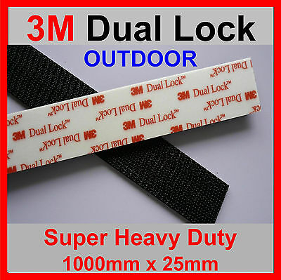3M DUAL LOCK TAPE 5 X STRONGER THAN HOOK And LOOP ADHESIVE 1 Metre x 25mm