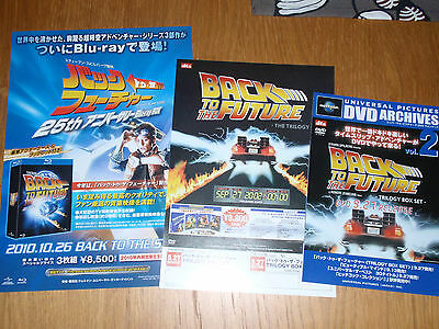 GREAT SCOT! BACK to the FUTURE Japan '10 Blu-Ray/'02 DVD flyer x3 Michael J. Fox