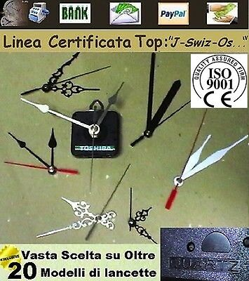 MECCANISMO OROLOGIO MOVIMENTO AL QUARZO CERTIFICATO swiz-os CLOCK MOVEMENT TOP J