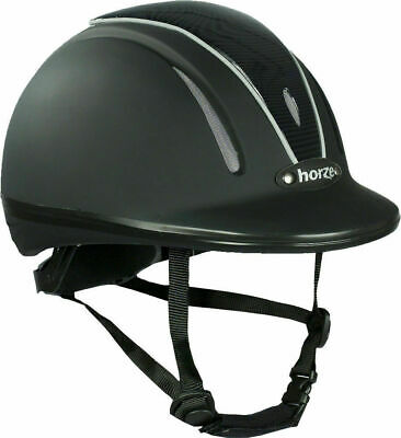 Horze Pacific Defenze Ventilated Adjustable Horse VG1 Safety Riding Hat/Helmet
