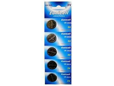 5 X Eunicell Cr2025 Dl2025 Ecr2025 Br2025 3 Volt Lithium Button/coin Batteries
