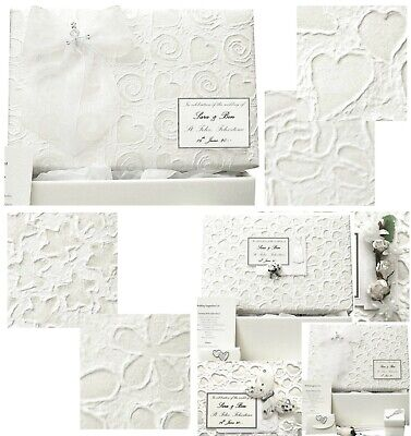 Wedding Keepsake Box  PERSONALISED 6 Mulberry Designs, 5 Motifs, 3 Colours -FAST