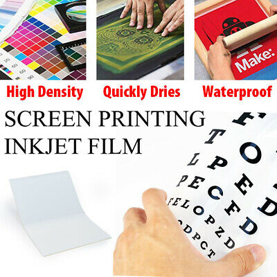 "50 Sheets 11"" x 17"" WaterProof Inkjet Transparency Film for Screen Printing"