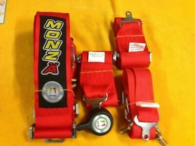 FIA CAMS AASA approved racing harness RED 6 point 3 inch valid 2026 Monza