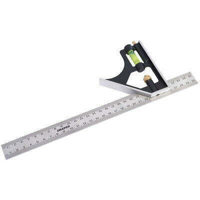 Draper 300mm Combination Square, Adjustable, Try Square, Engineers 09253 12""