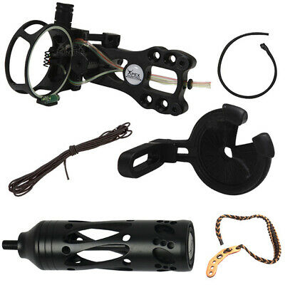 Deluxe Upgrade Kit Compound Bow -Stabilizer Fibre Optic Sight Arrow Rest Archery