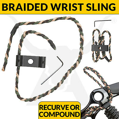New Basic Braided Adjustable Camo Wrist Sling For All Compound Bows And Archery