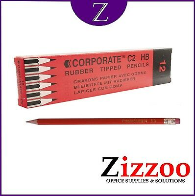 12 Hb Pencils Eraser Tipped With Free Delivery