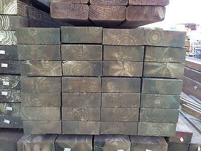 Treated Pine H4 Sleepers 200x75 2.1m Retaining Wall Garden Bed Edging Boxing