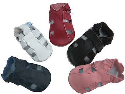 New Soft Leather Baby Shoes Navy,  Red,  Brown, Pink Sandals Various Sizes
