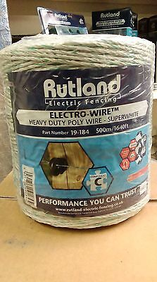 Rutland electric fence poly wire heavy duty 250m 500m horses cattle sheep pigs