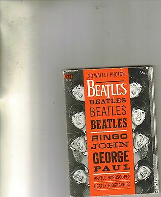 Beatles 20 Wallet Photos, Horoscopes and Biographies Dell #0493 from 1964