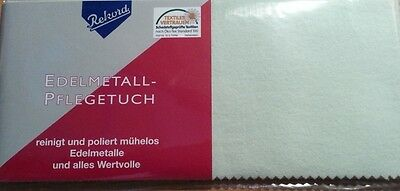 "TOP Reinigungstuch Schmuck Poliertuch   ""Rekord""  240 x 180 mm Made in Germany !"