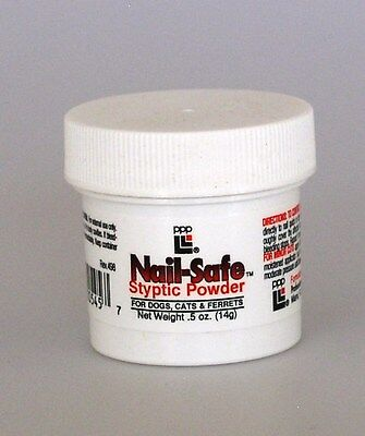 Nail Safe Dog Grooming Styptic Powder .5 oz