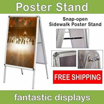 A-Frame Open Snap Front Loading Professional Poster Stand Street Business Office