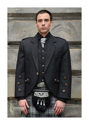 Complete 13Pc Contemporary Araca Tweed Kilt Package - Tartan & Size Options!