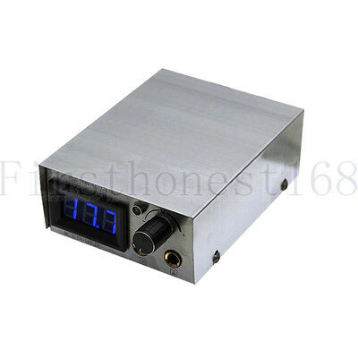 PRO Portable Stainless LCD DIGITAL Display Tattoo Power Supply+Lead Free For Tip