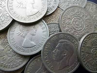 Two Shillings Pack Of 10  Coins, Dates Range  Ten Different Dates 1947-1967.