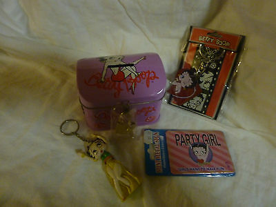 Betty Boop Bundle with money box, frdge magnet, Key ring, and figure key ring.