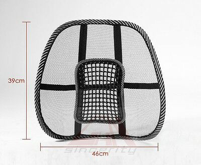 Mesh Back Lumbar Support  Massage Cushion with Massage Beads for Car Seat Chair