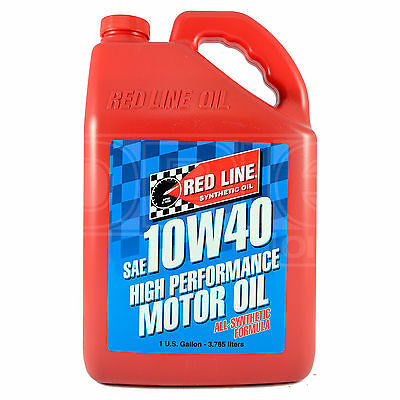 Red Line High Performance Synthetic Motor Oil 10W-40 1 US Gallon 3.78 litres