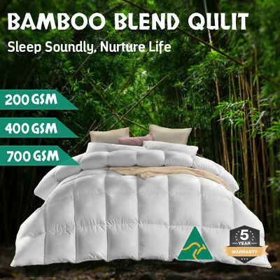 Aus Made All Size Microfiber Microfibre Bamboo Winter Summer Quilt Duvet Doona