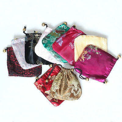 Wholesale Lots Mix Design Silk Jewelry Gift Bags 11*11cm Free Shipping