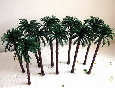 TDT18 10pcs Layout Model Train Palm Trees Scale O 18cm