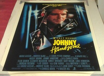JOHNNY HANDSOME MOVIE POSTER 1 Sheet ORIGINAL Ver B ROLLED 27x41 MICKEY ROURKE
