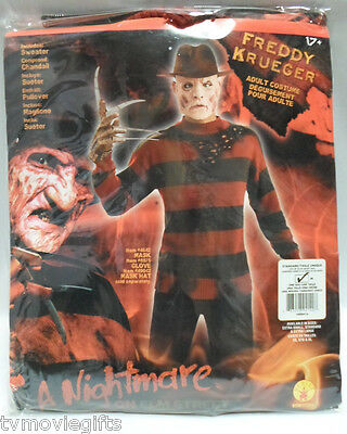 Freddy Krueger Deluxe Knit Sweater Costume X-Large 44-46 Licensed Rubies 889414