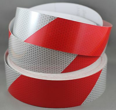 Red/White Diamond Grade Reflective Tape 50mm x 10m