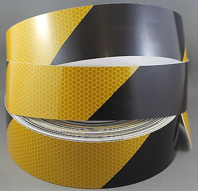 Yellow/Black Diamond Grade Reflective Tape 50mm x 15m