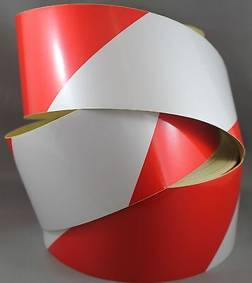 Red/White Class 2 Reflective Tape 75mm x 5m