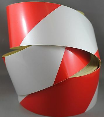 Red/White Class 2 Reflective Tape 75mm x 10m