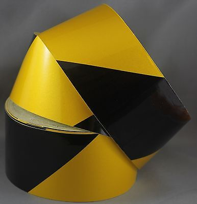 Yellow/Black Class 2 Reflective Tape 75mm x 10m