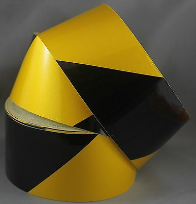 Yellow/Black Class 2 Reflective Tape 75mm x 15m