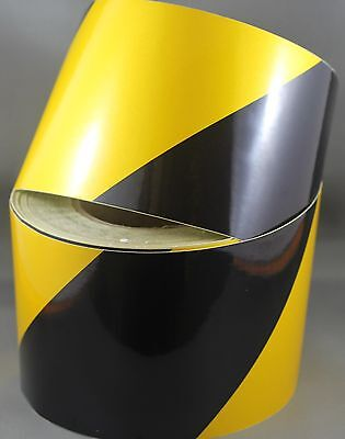 Yellow/Black Class 2 Reflective Tape 100mm x 15m
