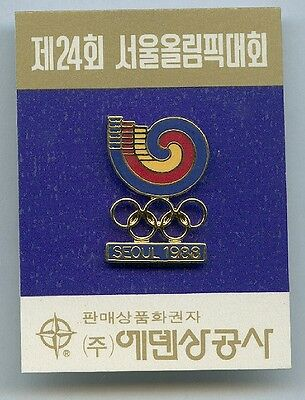 Seoul 1988.Olympic Games.official Logo Of The Games.good Condition.pins,Buttons