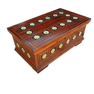 Wooden Jewellery Box 24 Cm Long,  Lock And Key In Brown Color